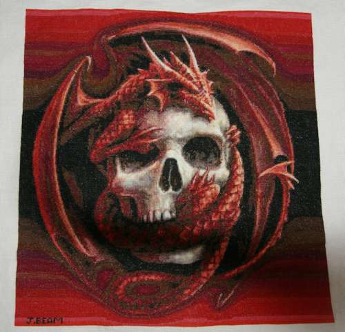 Red Dragon Skull Completed