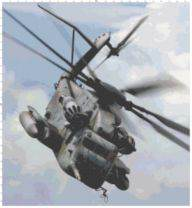 Helicopter Cross Stitch Pattern