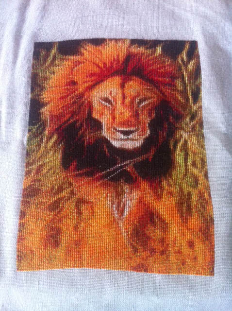 Lion Glow Stitched - Diane Frith