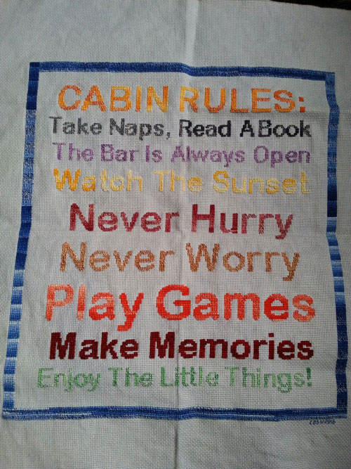 Cabin Rules Stitched