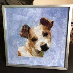 "Terrier ""Dewey"" by Robyn Langlie"