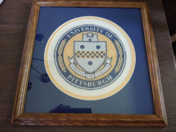 Cross Stitched University of Pittsburgh