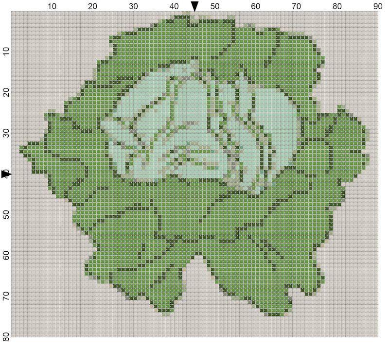 Cabbage Cross Stitch Pattern