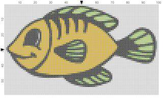 Cartoon Fish Cross Stitch Pattern