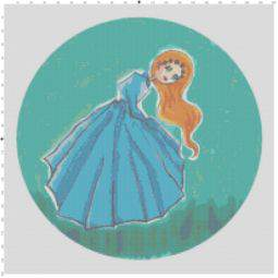 Giselle – Blue Eyed Girl Cross Stitch Pattern