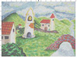River House Cross Stitch Pattern