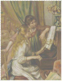 Young Girls at Piano