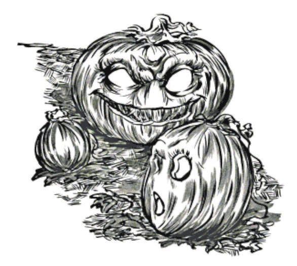 Angry Pumpkins Cross Stitch Pattern