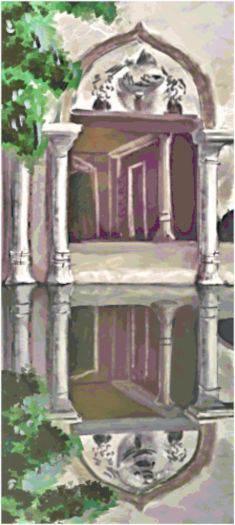 Column Reflections Cross Stitch Pattern