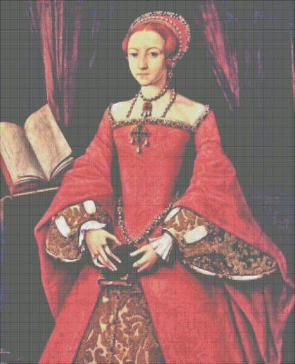 Princess Elizabeth of Tudor – 1546 Cross Stitch Pattern
