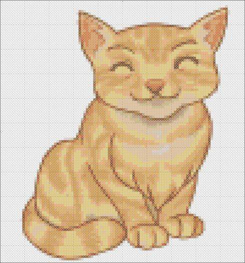 Tabby Cat Cross Stitch Pattern