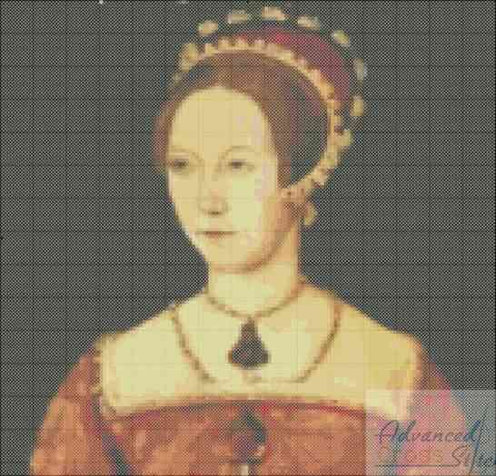Bloody Queen Mary Cross Stitch Pattern