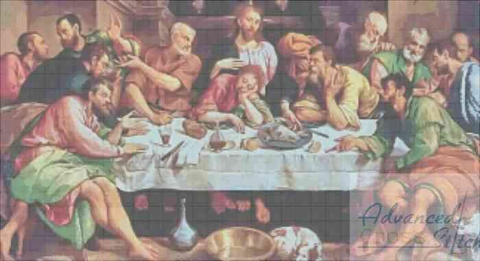 Last Supper Cross Stitch Pattern