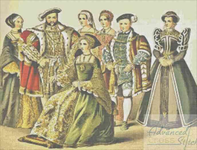 The Tudors Cross Stitch Pattern
