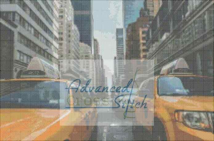 New York City Streets Cross Stitch Pattern