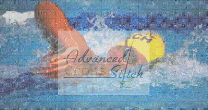 Swimmer Cross Stitch Pattern