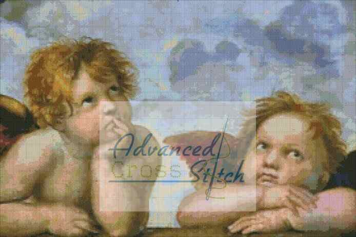 Angels at the Sistine Madonna Cross Stitch Pattern
