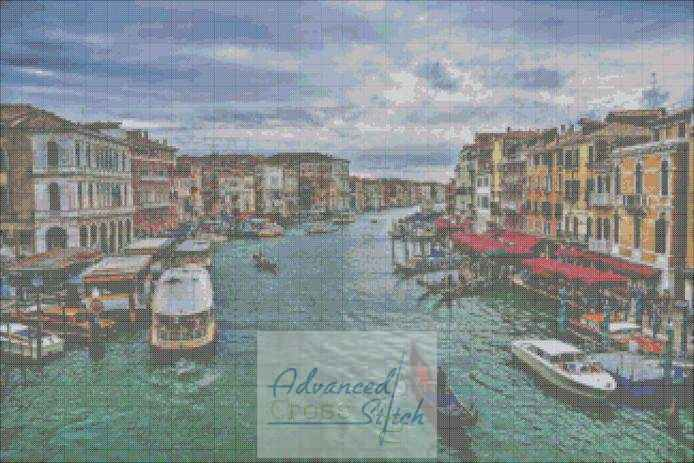 Venice Canals Cross Stitch Pattern
