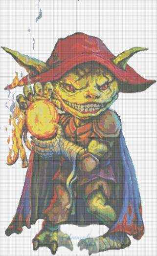 Gremlin Pyromaniac Cross Stitch Chart