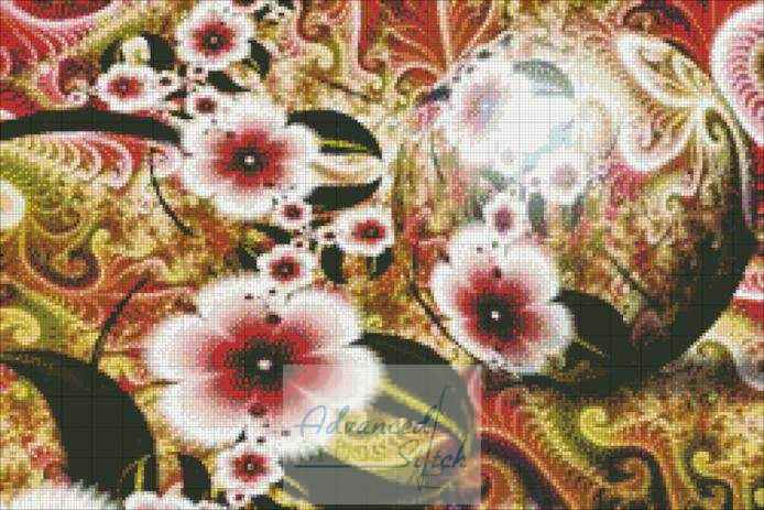 Royal Garden Summer Cross Stitch Pattern
