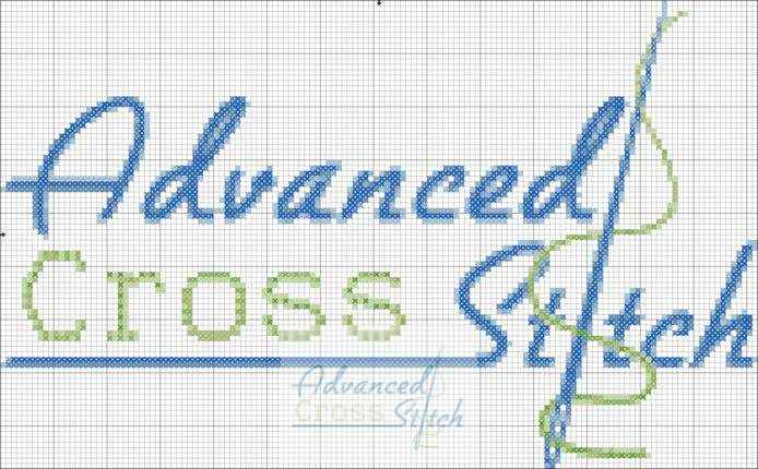 Advanced Cross Stitch Logo Chart
