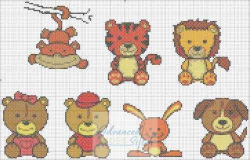 Animals – Cross Stitch Montage Chart
