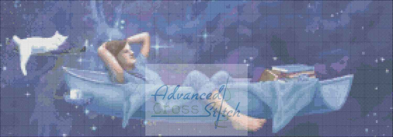 Floating In The Clouds Cross Stitch Chart