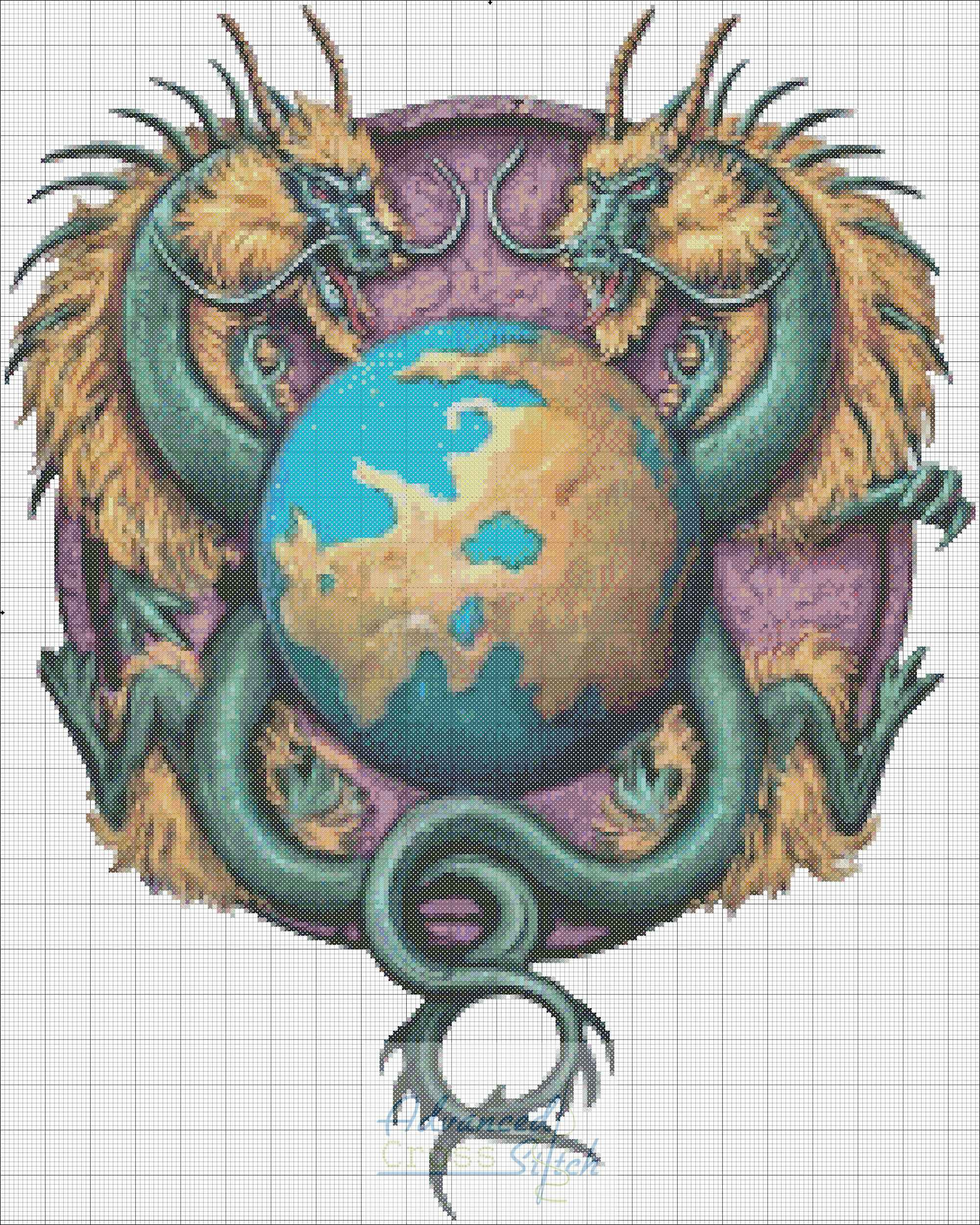 Sister Continent Cross Stitch Chart