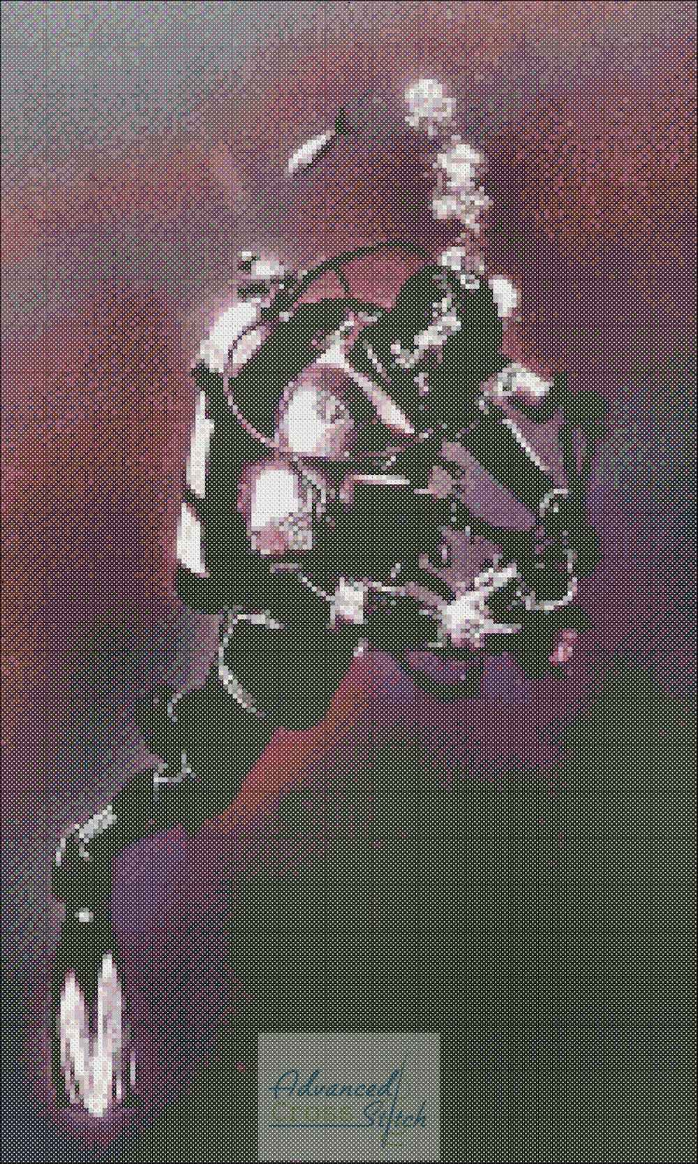Scuba Cross Stitch Pattern
