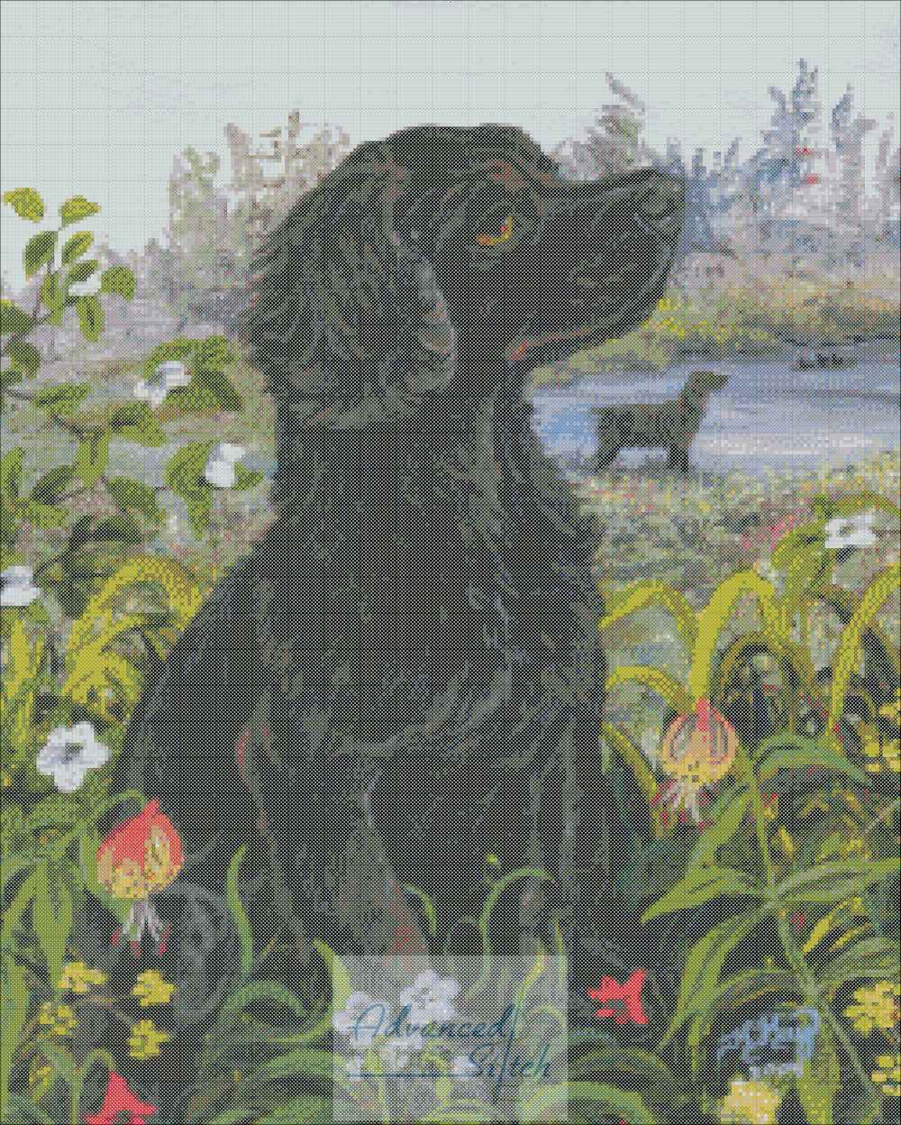 Boykin Spaniel Cross Stitch Chart