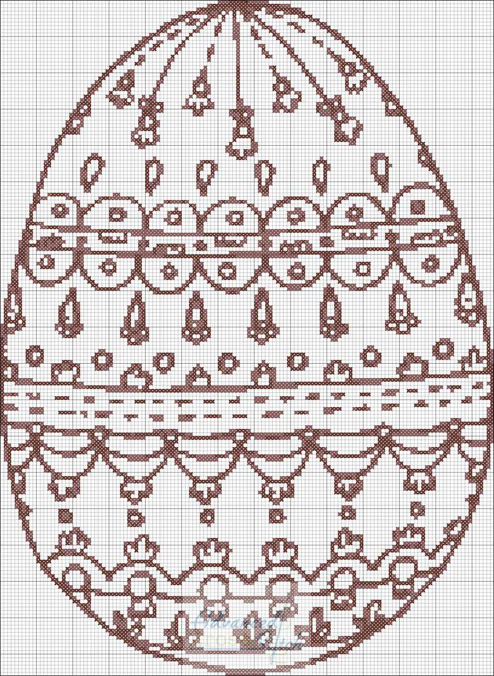 Coloring Egg Cross Stitch Chart