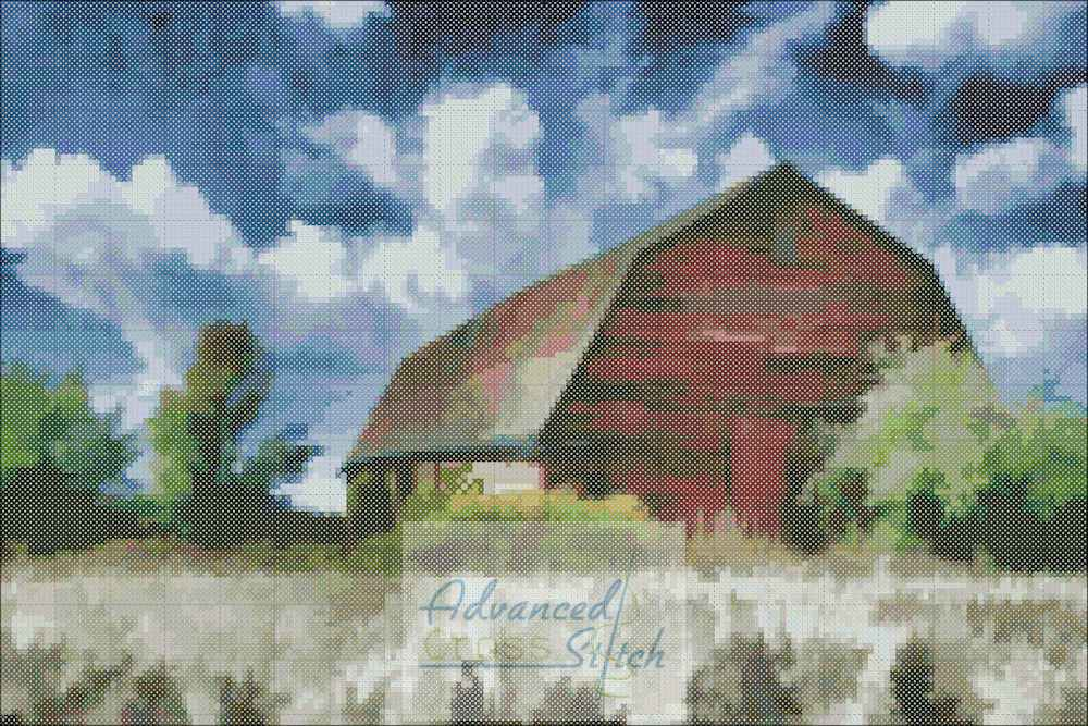 Old Barn Cross Stitch Chart