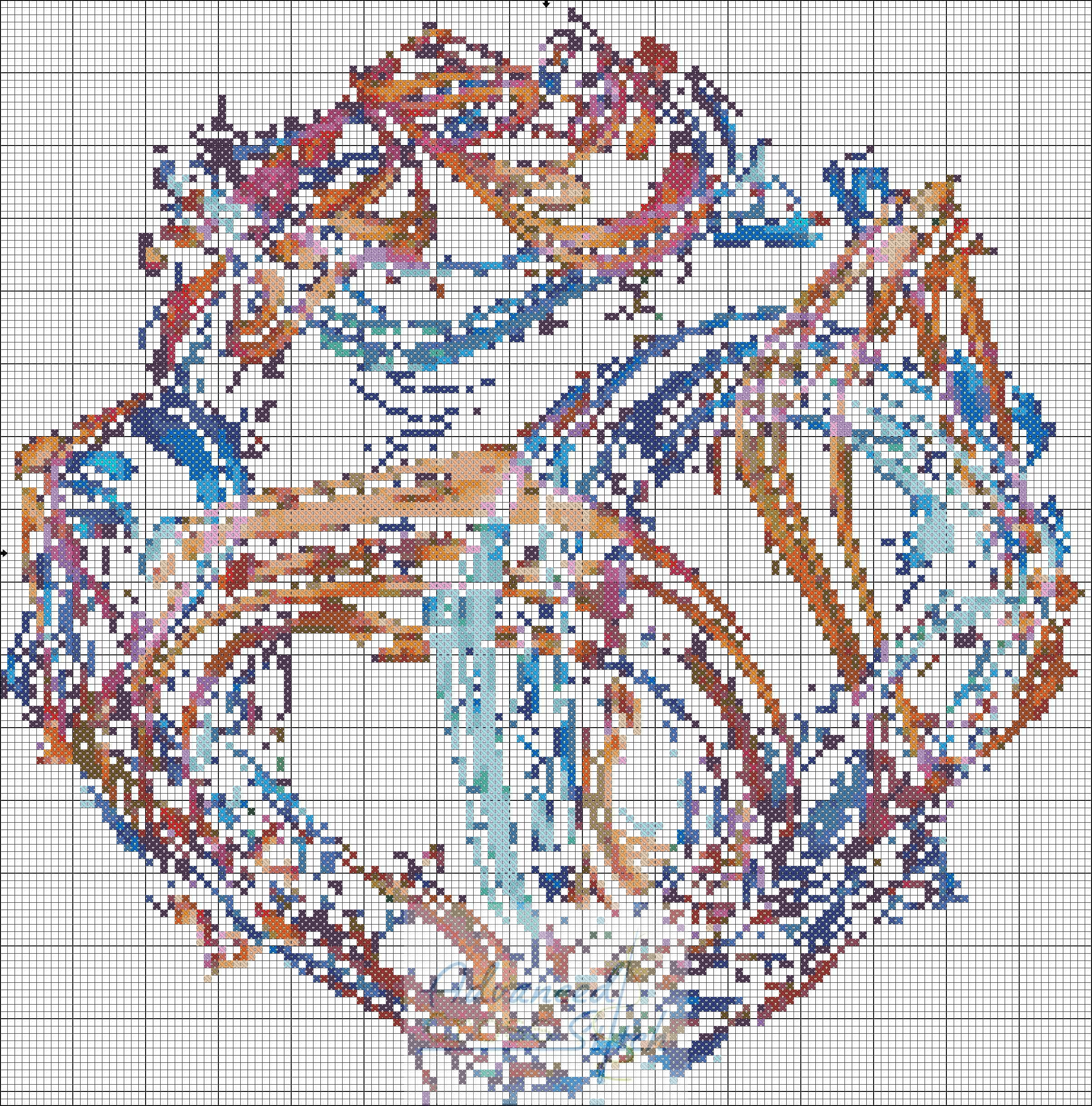 Abstract Composure Cross Stitch Chart
