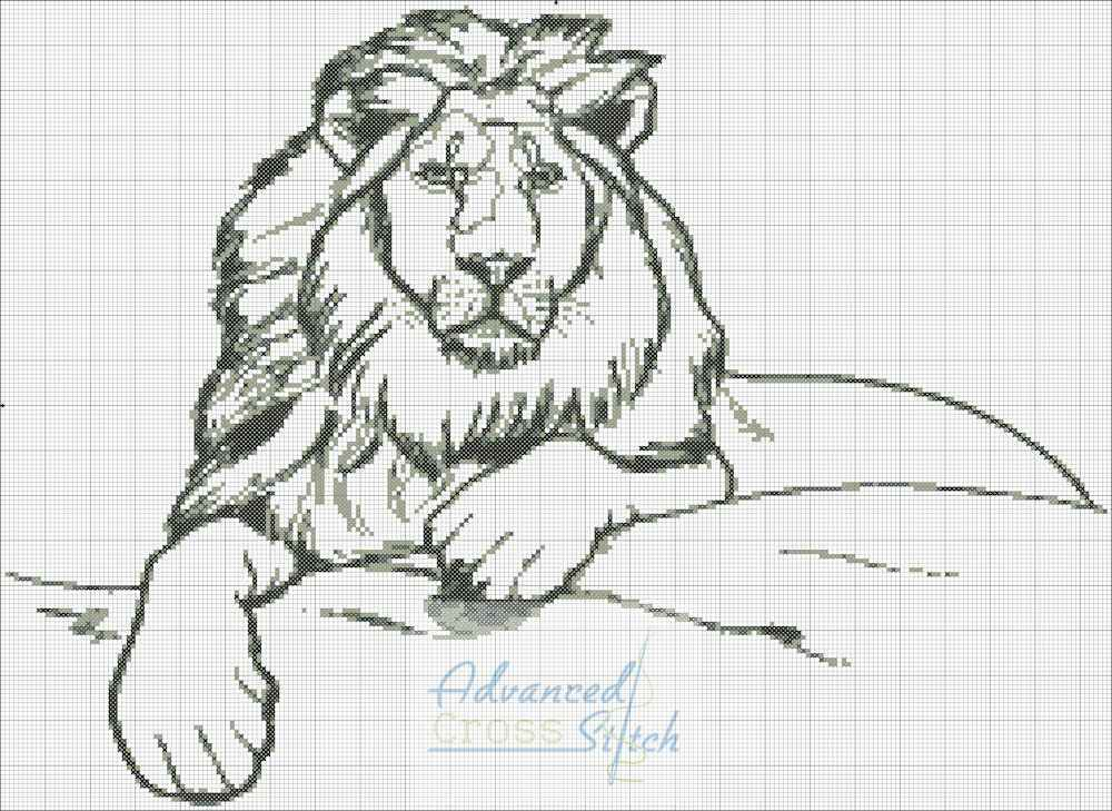 King of the Jungle – Lion Cross Stitch Chart