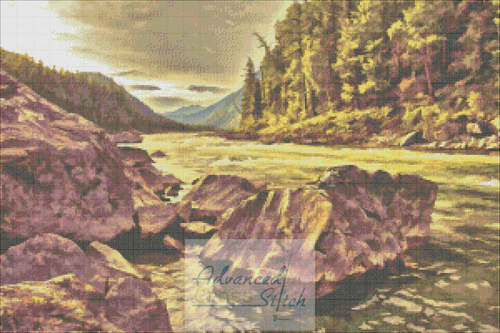 River Bend Painted Cross Stitch