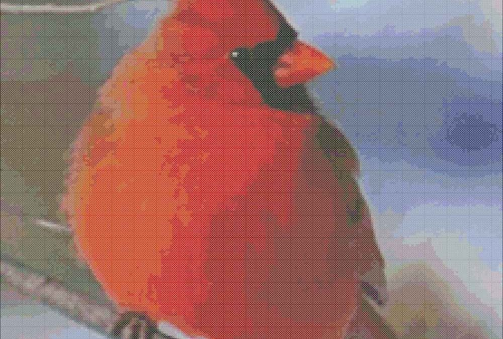 Red Cardinal Cross Stitch Chart