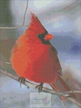 Red Cardinal Cross Stitch
