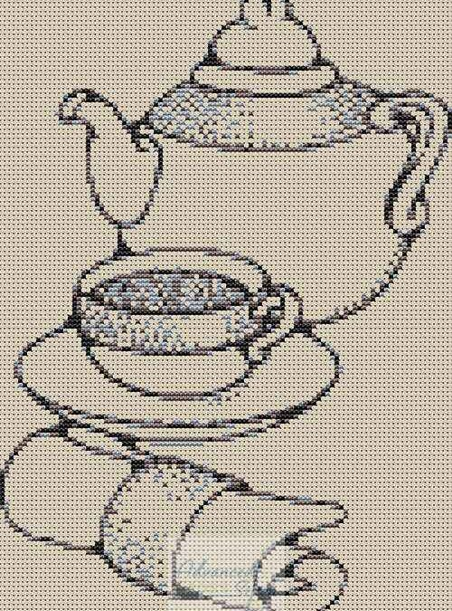 Teapot Cross Stitch Chart