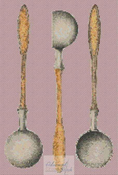 Pewter Ladle Cross Stitch Chart