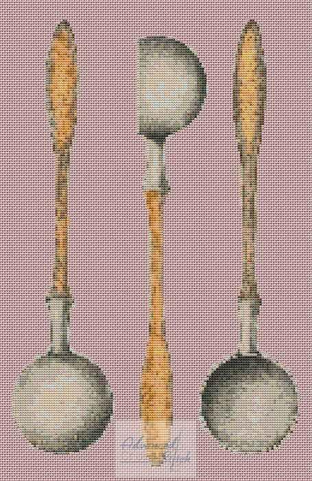 Pewter Ladle Cross Stitch