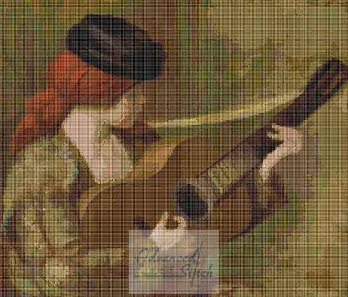 Young Spanish Woman with Guitar