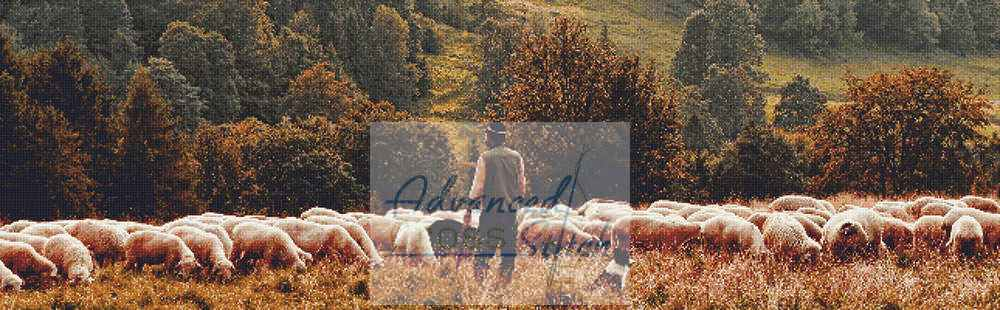 Sheep Herder Cross Stitch Pattern