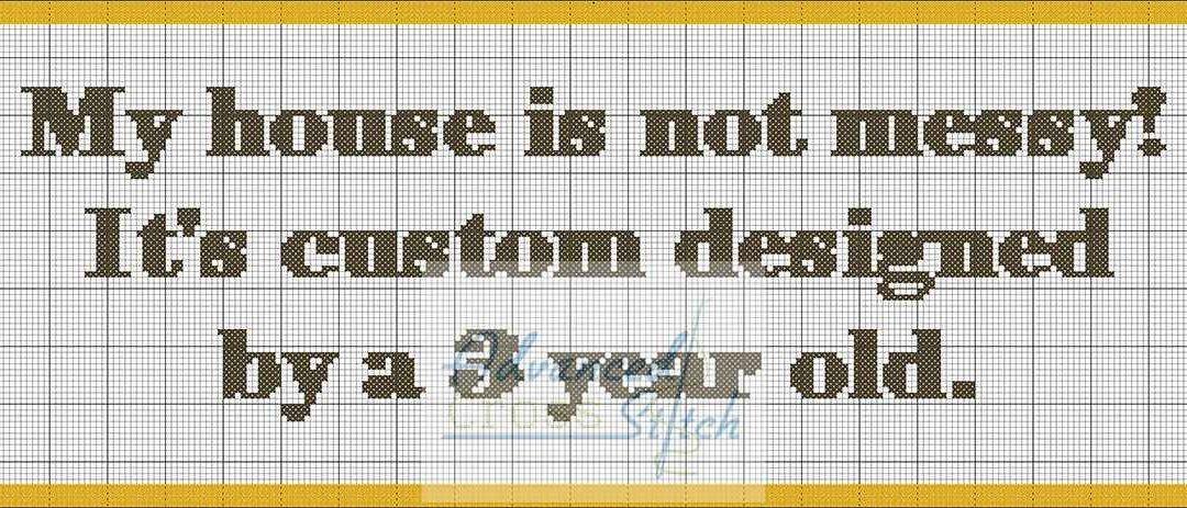 Custom Designed Cross Stitch Quote Pattern