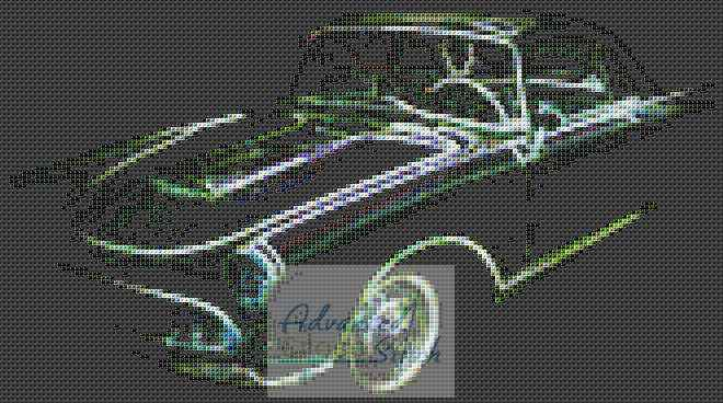Hot Rod Car Cross Stitch Design