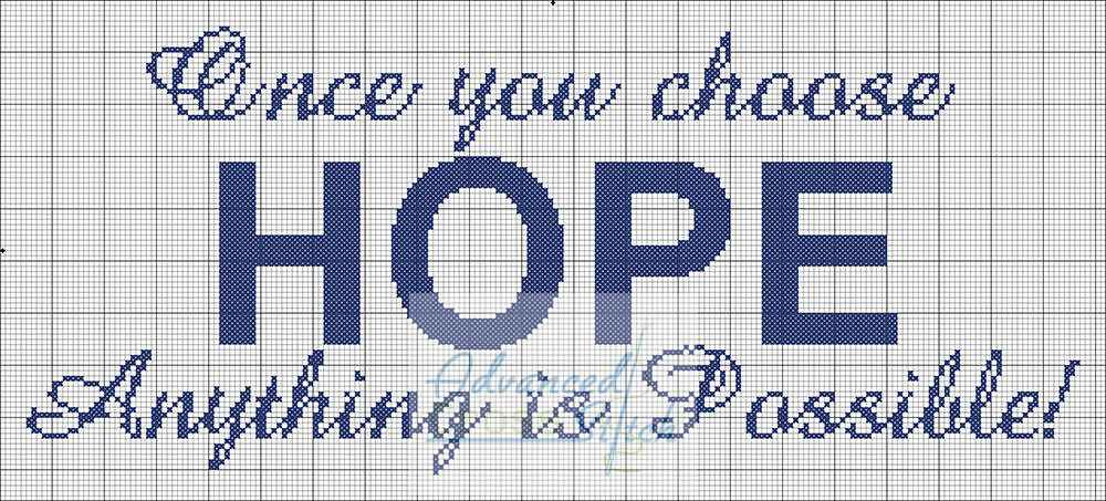 Anything is Possible Cross Stitch Chart