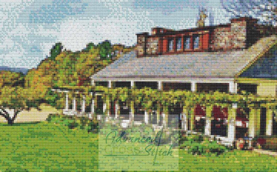 Aspet Historical Location Cross Stitch