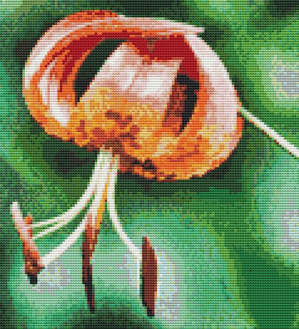 Turks Cap Lily Cross Stitch Chart