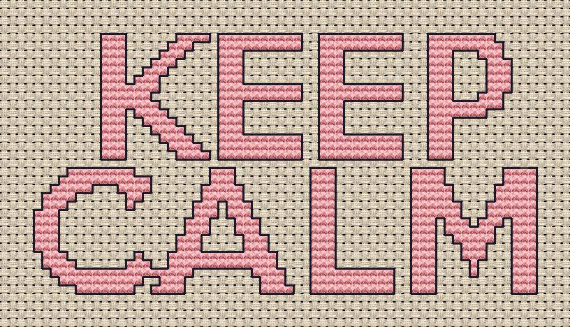 Keep Calm Cross Stitch Chart