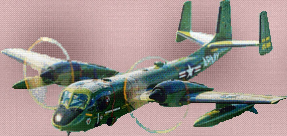 OV1 Mohawk Military Fighter Plane Cross Stitch Chart