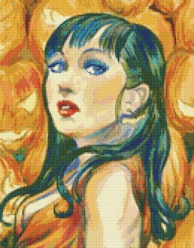 Orange Goddess Cross Stitch